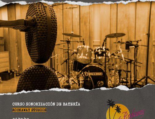 Abierta la inscripción del Curso sonorización de batería Rockaway Studios